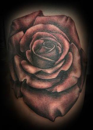 Black and Grey Rose Best Tattoo Shop Charleston South Carolina[2]