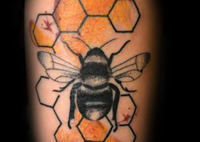 Chris Jones Water Color Bumble Bee Tattoo
