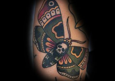 American Traditional Death Moth by Chris Jones