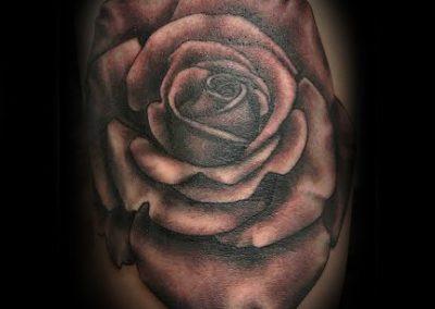 Black and Grey Rose Best Tattoo Shop Charleston South Carolina