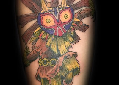 Zelda Majora's Mask Tattoo done by Shane Watkins