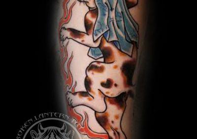 Neko Cat Yokai Tattoo by Glenn